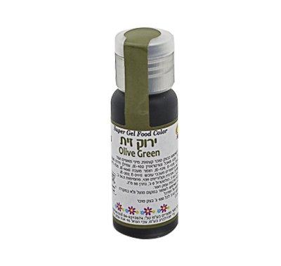 צבע מאכל ג'ל - ירוק זית