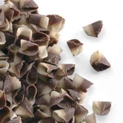 תלתלי שוקולד - זברה - חלב לבן