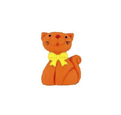 חתול כתום - קישוט לעוגה