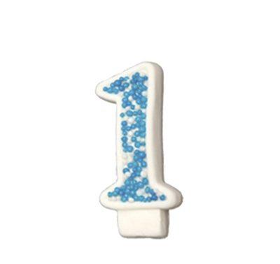 מספר 1 כחול גדול - קישוט לעוגה