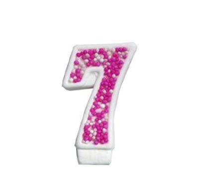 מספר 7 ורוד גדול