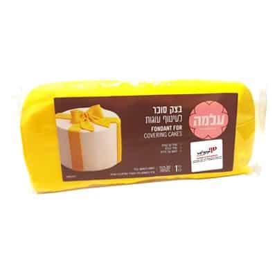 """עלמה בצק סוכר 1 ק""""ג - צהוב"""