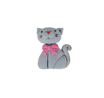 חתול אפור - קישוט לעוגה