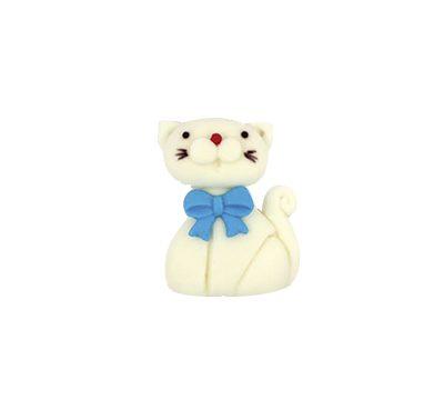 חתול לבן - קישוט לעוגה