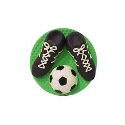 נעלי כדורגל + כדור - קישוט לעוגה