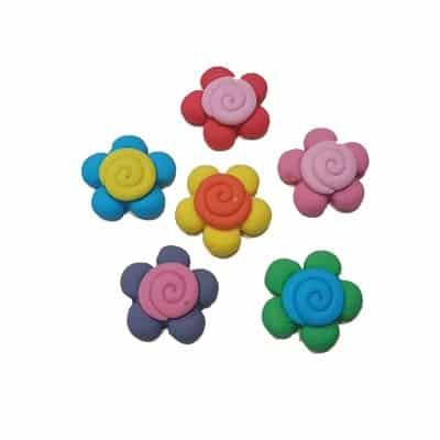 פרח ספירלה - קישוט לעוגה