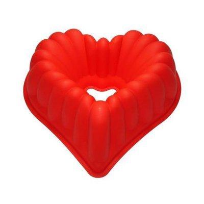 תבנית סיליקון לב עם חור