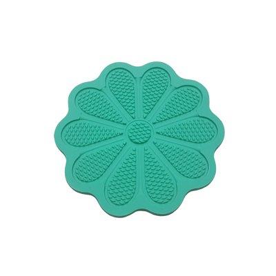 משטח סיליקון ליצירת טקסטורה – פרח ירוק
