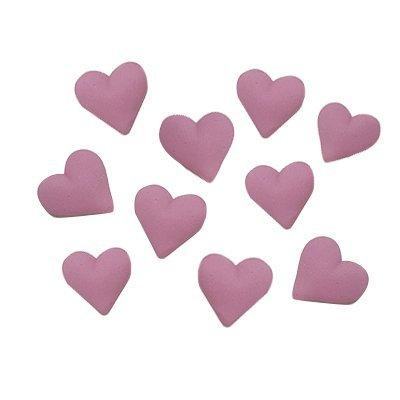 לבבות קטנים ורודים - קישוט לעוגה