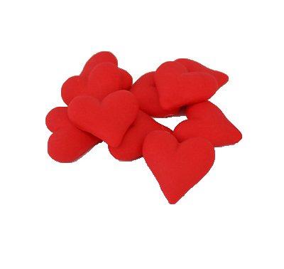 לבבות קטנים אדומים - קישוט לעוגה