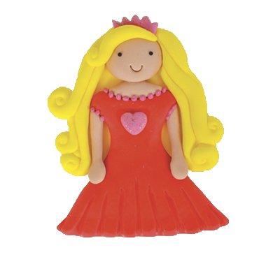 נסיכה שמלה אדומה - קישוט לעוגה