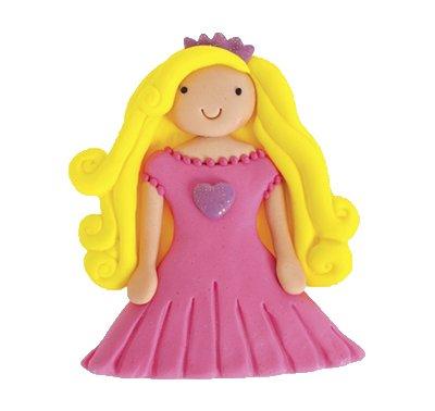 נסיכה שמלה ורודה - קישוט לעוגה