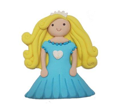 נסיכה שמלה כחולה - קישוט לעוגה