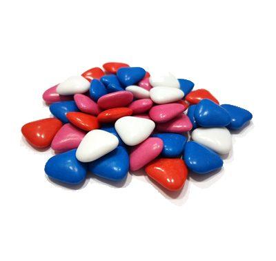 עדשים לבבות מיקס צבעוני 200 גר