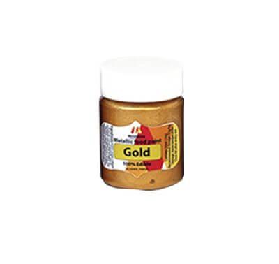 צבע גואש אכיל - זהב מטאלי