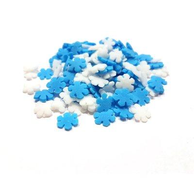 סוכריות - פתיתי שלג כחול לבן