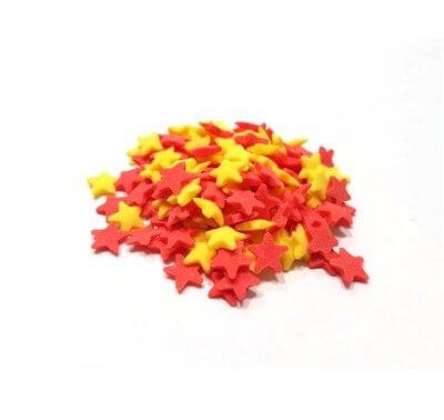 סוכריות - כוכבים אדום צהוב