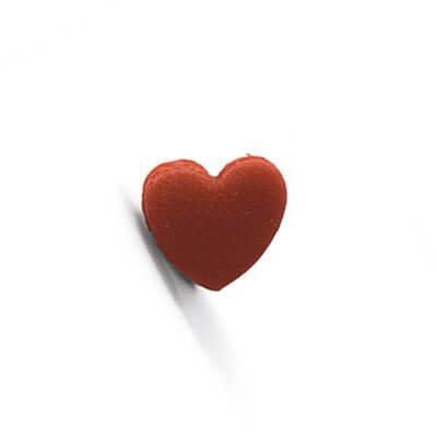 קישוט לבבות מבצק סוכר - אדום
