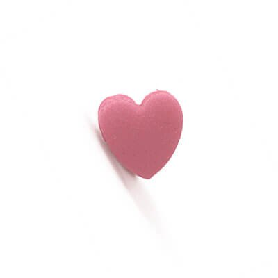 קישוט לבבות מבצק סוכר - ורוד