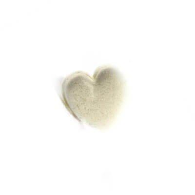 קישוט לבבות מבצק סוכר - לבן