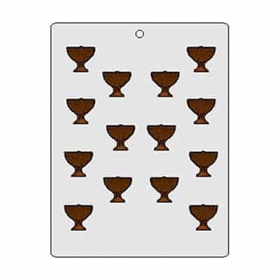 תבנית שוקולד חנוכייה מיני