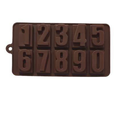 תבנית סיליקון לשוקולד - מספרים